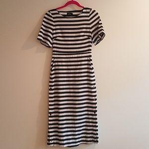 KATE SPADE Black & White striped dress